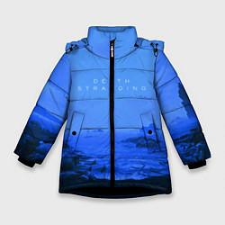Куртка зимняя для девочки Death Stranding: Blue Heaven цвета 3D-черный — фото 1