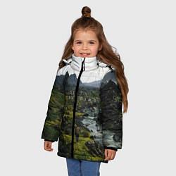 Куртка зимняя для девочки Death Stranding: Green World цвета 3D-черный — фото 2