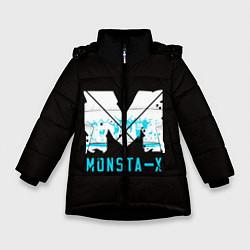 Детская зимняя куртка для девочки с принтом MONSTA X, цвет: 3D-черный, артикул: 10170154506065 — фото 1