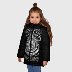 Куртка зимняя для девочки Black Sabbath цвета 3D-черный — фото 2
