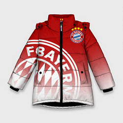 Куртка зимняя для девочки ФК Бавария цвета 3D-черный — фото 1