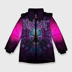 Куртка зимняя для девочки Slipknot: Neon Skull цвета 3D-черный — фото 1