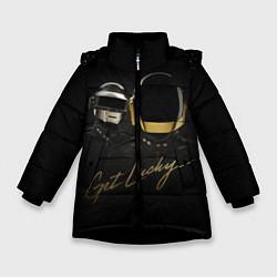 Детская зимняя куртка для девочки с принтом Daft Punk: Get Lucky, цвет: 3D-черный, артикул: 10171252906065 — фото 1