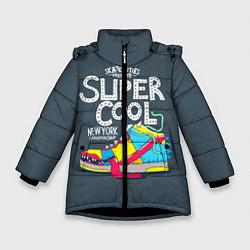 Куртка зимняя для девочки Super Сool цвета 3D-черный — фото 1