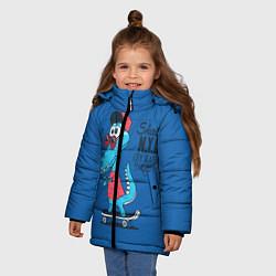 Куртка зимняя для девочки Skate NYC цвета 3D-черный — фото 2
