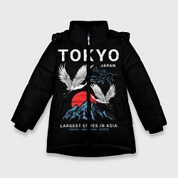 Куртка зимняя для девочки Tokyo цвета 3D-черный — фото 1