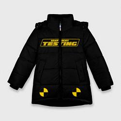 Куртка зимняя для девочки ASAP Rocky Testing цвета 3D-черный — фото 1