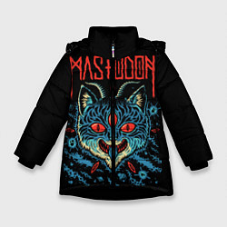 Куртка зимняя для девочки Mastodon: Demonic Cat цвета 3D-черный — фото 1