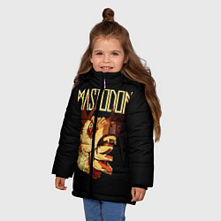 Детская зимняя куртка для девочки с принтом Mastodon: Leviathan, цвет: 3D-черный, артикул: 10172767506065 — фото 2
