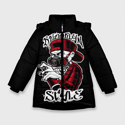 Куртка зимняя для девочки Brooklyn Style цвета 3D-черный — фото 1