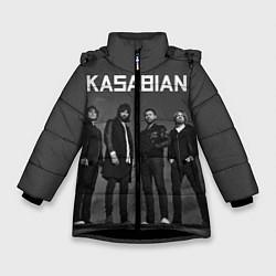Куртка зимняя для девочки Kasabian: Boys Band цвета 3D-черный — фото 1