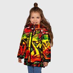 Куртка зимняя для девочки Red Graffiti цвета 3D-черный — фото 2