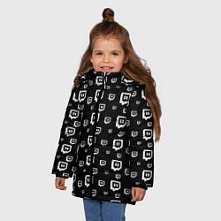 Куртка зимняя для девочки Twitch: Black Pattern цвета 3D-черный — фото 2
