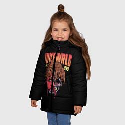 Детская зимняя куртка для девочки с принтом Juice WRLD, цвет: 3D-черный, артикул: 10173990506065 — фото 2