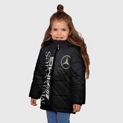 Куртка зимняя для девочки Mercedes AMG: Black Edition цвета 3D-черный — фото 2
