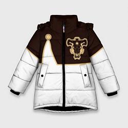 Куртка зимняя для девочки Черный Клевер: Мантия цвета 3D-черный — фото 1
