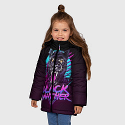 Куртка зимняя для девочки Black Panther 80s цвета 3D-черный — фото 2