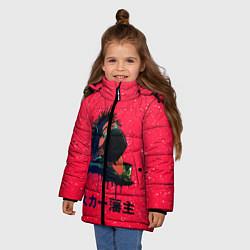 Куртка зимняя для девочки SCARLXRD Rap цвета 3D-черный — фото 2