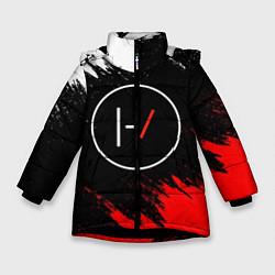 Куртка зимняя для девочки 21 Pilots: Black & Red цвета 3D-черный — фото 1