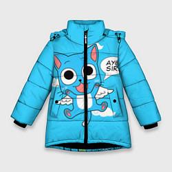 Куртка зимняя для девочки Fairy Tail: Happy цвета 3D-черный — фото 1