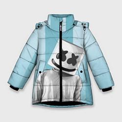 Куртка зимняя для девочки Marshmello цвета 3D-черный — фото 1