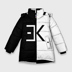 Куртка зимняя для девочки Егор Крид: ЕК цвета 3D-черный — фото 1