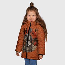 Куртка зимняя для девочки K-2SO цвета 3D-черный — фото 2