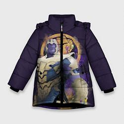 Куртка зимняя для девочки Thanos Abstract цвета 3D-черный — фото 1