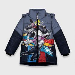 Куртка зимняя для девочки Spider-Woman and Venom цвета 3D-черный — фото 1