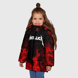 Куртка зимняя для девочки METALLICA НА СПИНЕ цвета 3D-черный — фото 2