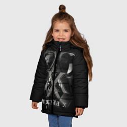 Детская зимняя куртка для девочки с принтом Monsta X, цвет: 3D-черный, артикул: 10186857506065 — фото 2