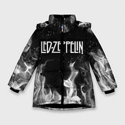 Куртка зимняя для девочки LED ZEPPELIN цвета 3D-черный — фото 1