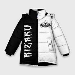 Куртка зимняя для девочки KIZARU цвета 3D-черный — фото 1