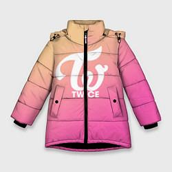 Куртка зимняя для девочки TWICE цвета 3D-черный — фото 1