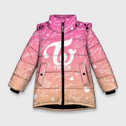 Куртка зимняя для девочки TWICE АВТОГРАФЫ цвета 3D-черный — фото 1