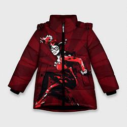 Куртка зимняя для девочки Harley Quinn цвета 3D-черный — фото 1
