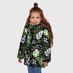 Куртка зимняя для девочки Villains цвета 3D-черный — фото 2