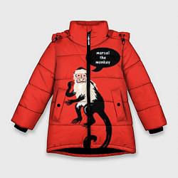 Куртка зимняя для девочки Marcel the monkey цвета 3D-черный — фото 1