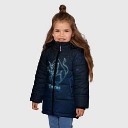 Куртка зимняя для девочки Телец 3D цвета 3D-черный — фото 2