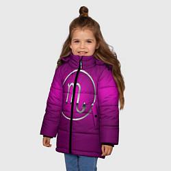 Куртка зимняя для девочки Scorpio Скорпион цвета 3D-черный — фото 2
