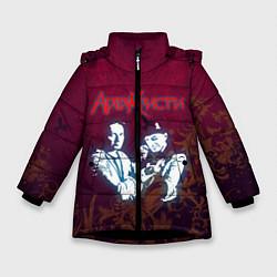Куртка зимняя для девочки Агата Кристи цвета 3D-черный — фото 1