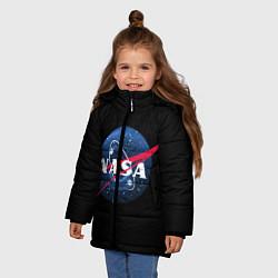 Куртка зимняя для девочки NASA Black Hole цвета 3D-черный — фото 2