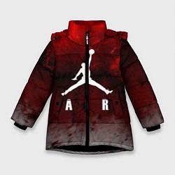 Куртка зимняя для девочки JORDAN AIR SPACE цвета 3D-черный — фото 1