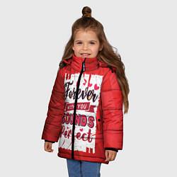 Куртка зимняя для девочки Звучит идеально цвета 3D-черный — фото 2