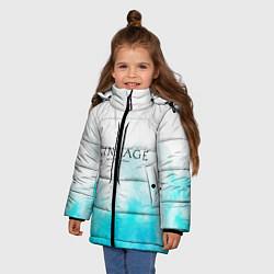 Детская зимняя куртка для девочки с принтом LINEAGE 2, цвет: 3D-черный, артикул: 10202647706065 — фото 2