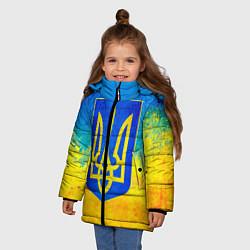 Детская зимняя куртка для девочки с принтом Флаг, цвет: 3D-черный, артикул: 10203595706065 — фото 2