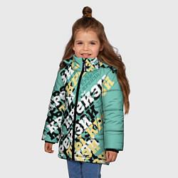 Куртка зимняя для девочки Ты крейзи цвета 3D-черный — фото 2