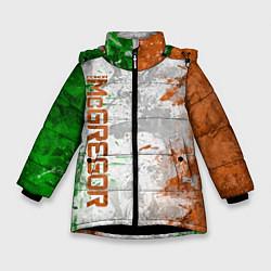 Куртка зимняя для девочки Конор МакГрегор цвета 3D-черный — фото 1
