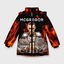 Куртка зимняя для девочки CONOR McGREGOR цвета 3D-черный — фото 1