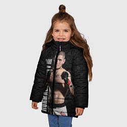 Куртка зимняя для девочки Хабиб Нурмагомедов цвета 3D-черный — фото 2